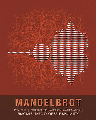 Mixed Media - Science Posters - Benoit Mandelbrot - Mathematician by Studio Grafiikka