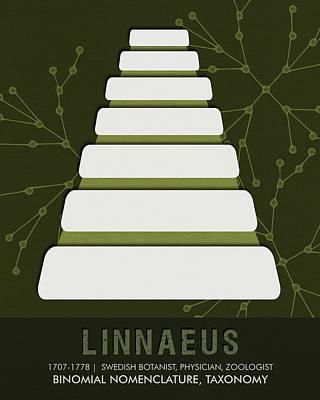 Club Mixed Media - Science Posters - Carl Linnaeus - Botanist, Physician, Zoologist by Studio Grafiikka