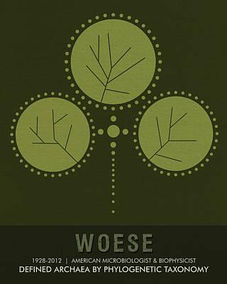 Science Posters - Carl Woese - Microbiologist, Biophysicist Art Print by Studio Grafiikka