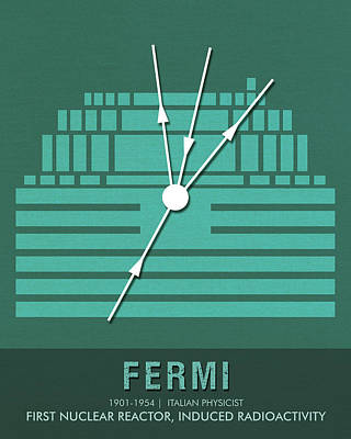 Mixed Media - Science Posters - Enrico Fermi - Physicist by Studio Grafiikka