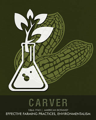 Science Posters - George Washington Carver - Botanist Art Print