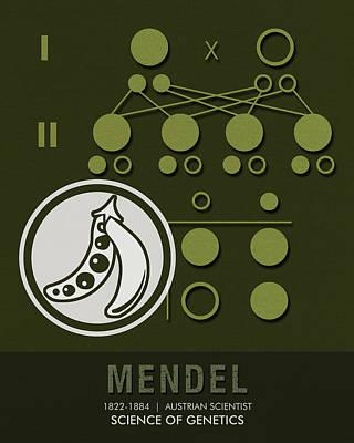 Science Posters - Gregor Mendel - Geneticist, Scientist Art Print