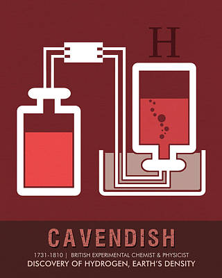 Royalty-Free and Rights-Managed Images - Science Posters - Henry Cavendish - Chemist, Physicist by Studio Grafiikka