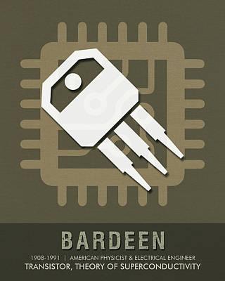 Science Posters - John Bardeen - Physicist, Engineer Art Print