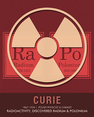 Royalty-Free and Rights-Managed Images - Science Posters - Marie Curie - Physicist, Chemist by Studio Grafiikka