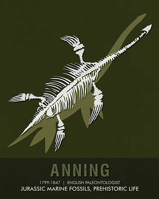 Science Posters - Mary Anning - Paleontologist Art Print