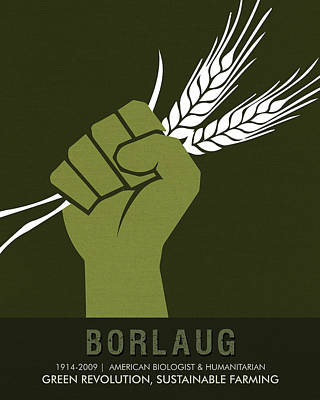 Buy Mixed Media - Science Posters - Norman Borlaug - Biologist, Agronomist by Studio Grafiikka