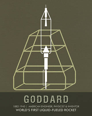 Mixed Media - Science Posters - Robert.h.goddard - Engineer, Physicist, Inventor by Studio Grafiikka