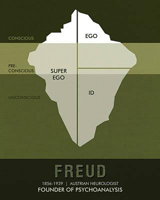 Stems Mixed Media - Science Posters - Sigmund Freud - Neurologist, Psychoanalyst by Studio Grafiikka