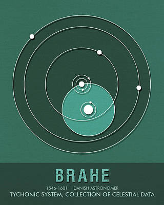 Biology Mixed Media - Science Posters - Tycho Brahe - Astronomer by Studio Grafiikka