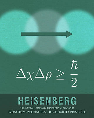 Royalty-Free and Rights-Managed Images - Science Posters - Werner Heisenberg - Theoretical Physicist by Studio Grafiikka