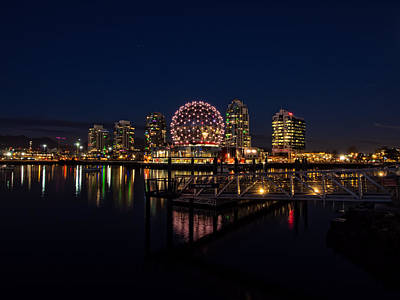 Photograph - Science World Nocturnal by Gary Karlsen