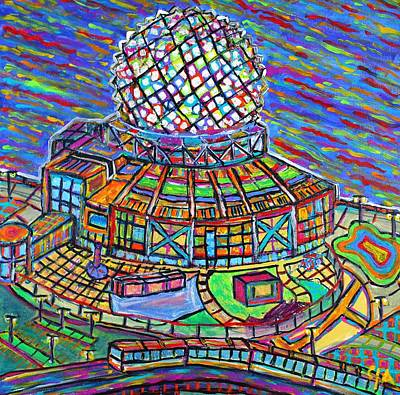 Painting - Science World, Vancouver, Alive In Color by Jeremy Aiyadurai
