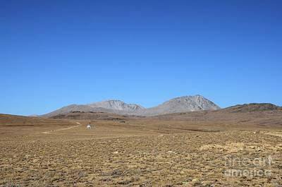 Photograph - Scientific Equipment By Road In Dry And Barren Deosai Plains Gilgit-baltistan Pakistan by Imran Ahmed
