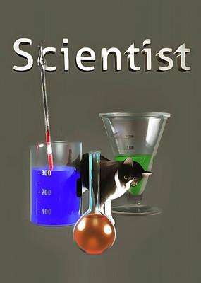 Painting - Scientist by Jan Keteleer