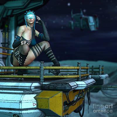 Digital Art - Scifi Diva by Georgina Hannay