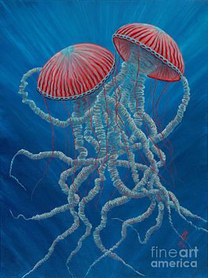 Scifi Jellies Art Print by Rebecca Parker