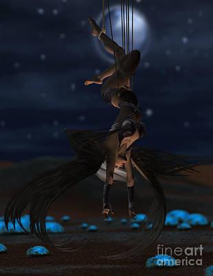 Digital Art - Scifi Shibari 1 by Georgina Hannay