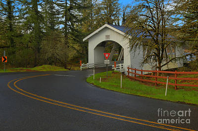 Photograph - Scio Oregon Hannah Covered Bridge by Adam Jewell