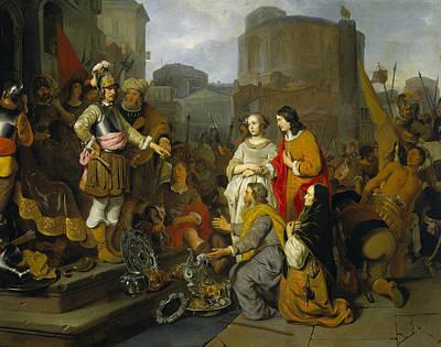 Painting - Scipio's Generosity by Gerbrand van den Eeckhout