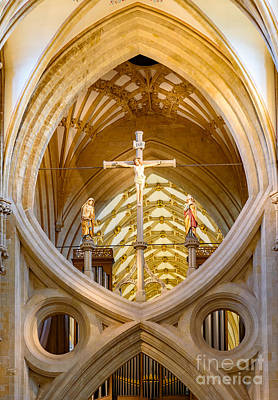 Photograph - Scissor Arches, Wells Cathedral by Colin Rayner