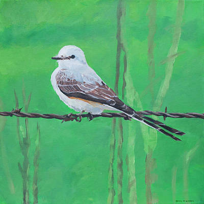 Painting - Scissortail by Brian M White