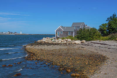 Photograph - Scituate Harbor And The Lighthouse by Brian MacLean