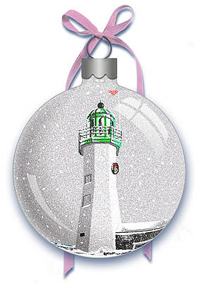Digital Art - Scituate Light Ornament-a by Donna Basile