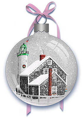 Digital Art - Scituate Light Ornament-b by Donna Basile