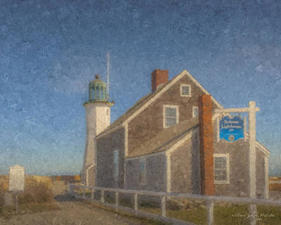 Painting - Scituate Lighthouse 1811 by Bill McEntee