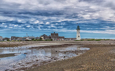 Photograph - Scituate Lighthouse And Beach by Brian MacLean
