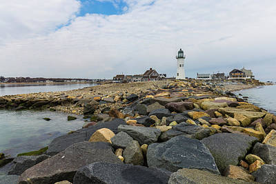 Photograph - Scituate Lighthouse And Cedar Point by Brian MacLean