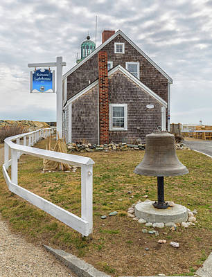 Photograph - Scituate Lighthouse And Us Lighthouse Service Bell by Brian MacLean