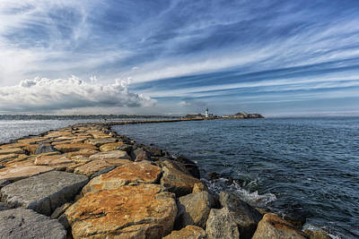 Photograph - Scituate Lighthouse Big Sky by Brian MacLean