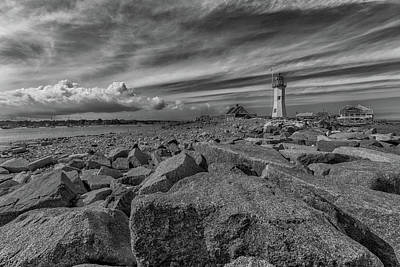 Photograph - Scituate Lighthouse From The End Of The Jetty by Brian MacLean