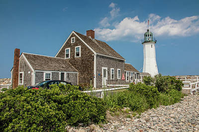 Scituate Lighthouse In Scituate, Ma Art Print