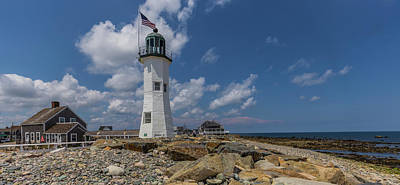 Photograph - Scituate Lighthouse Panorama by Brian MacLean