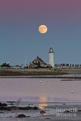 Photograph - Scituate Moon Rise by Butch Lombardi