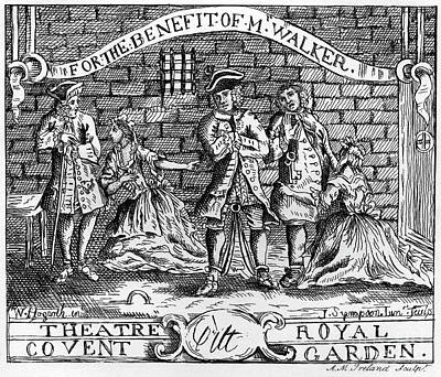 Drawing - Scnene From The Beggar 's Opera By John Gay by William Hogarth