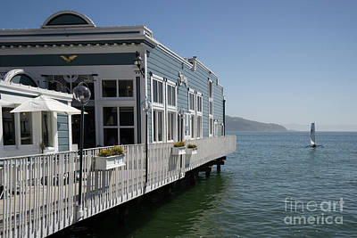 Photograph - Scoma's Restaurant On Bridgeway Sausalito California Dsc6035 by Wingsdomain Art and Photography