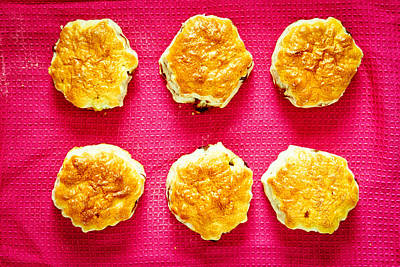 Tasty Photograph - Scones by Tom Gowanlock
