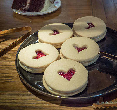Photograph - Scones With Heart by Jean Noren