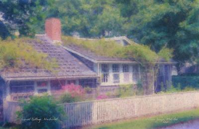 Sconset Cottage #3 Art Print