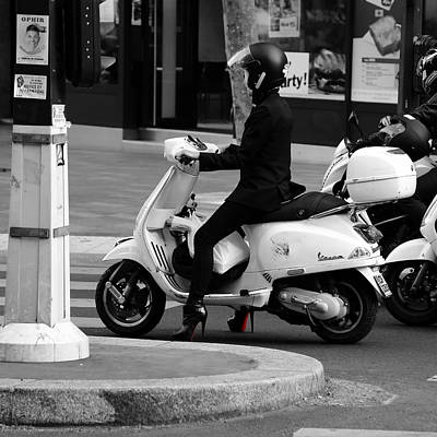 Photograph - Scooter Girl 1b by Andrew Fare
