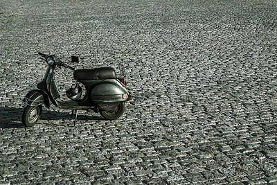 Photograph - Scooter On Cobblestones by Lana Enderle