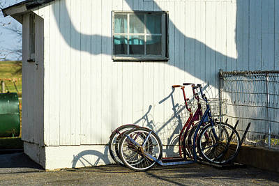 Photograph - Scooters And Shadows by Tana Reiff