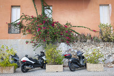 Photograph - Scooters On Street In Villefranche-sur-mer by Elena Elisseeva