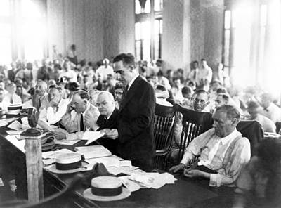 Monkey Photograph - Scopes Trial, July 10�21, 1925, Dayton by Everett