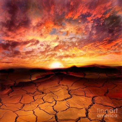 Dreamscape Digital Art - Scorched Earth by Jacky Gerritsen