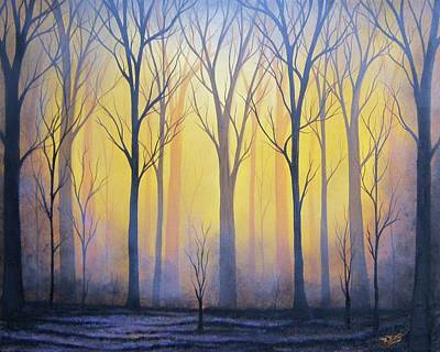 Bare Trees Painting - Scorched Earth by Rachel Bingaman